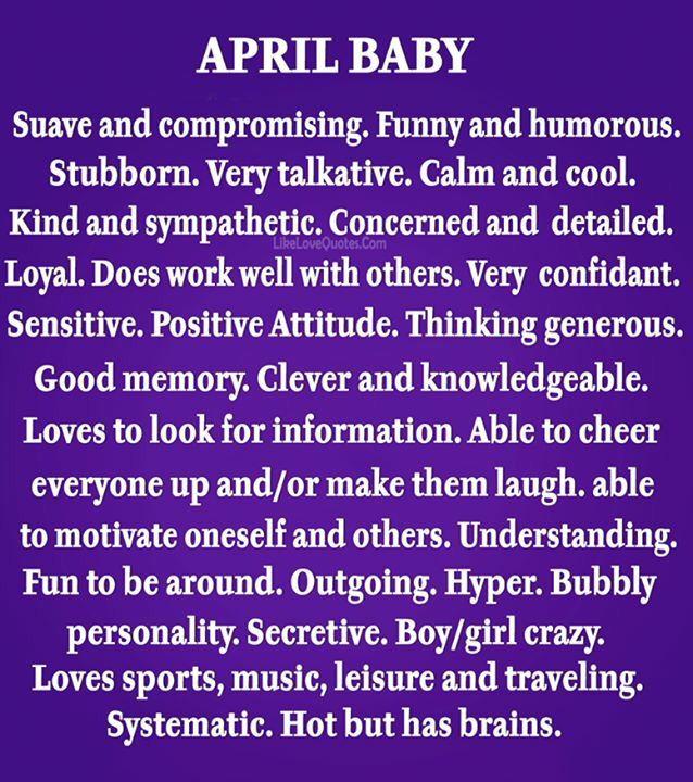 April Born Birthday Month Quotes