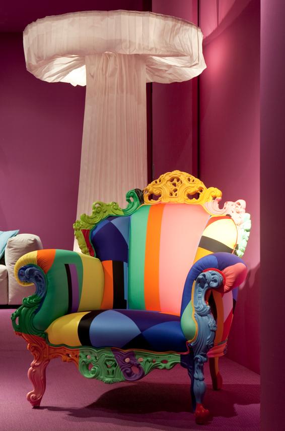 Fauteuil Multicolore Cappelini Rainbow Design Armchair PJ - Fauteuil multicolore design