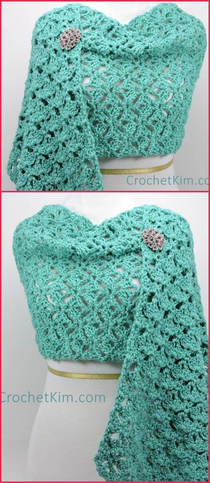 100 Free Crochet Shawl Patterns - Free Crochet Patterns | Pinterest