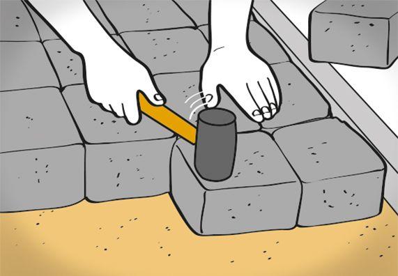 Gartenweg anlegen und pflastern in 7 Schritten   OBI