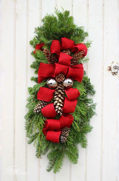 how to make a christmas swag christmas decorations how to seasonal holiday decor