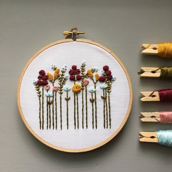 6 Beautiful Hand Embroidery Kits | CityCraft #fallcolors