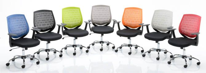 Tampa Contemporary Office Chair With Backrest Colour Options