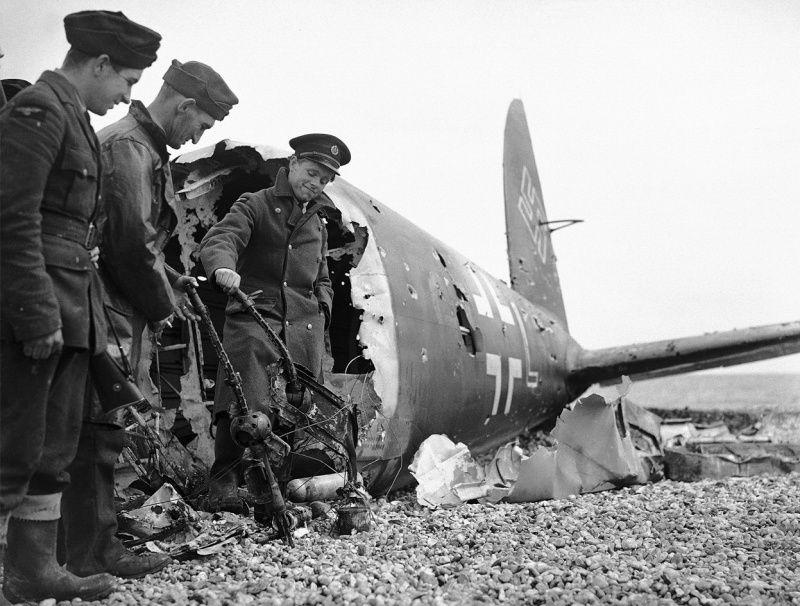 Crashed Nazi Plane