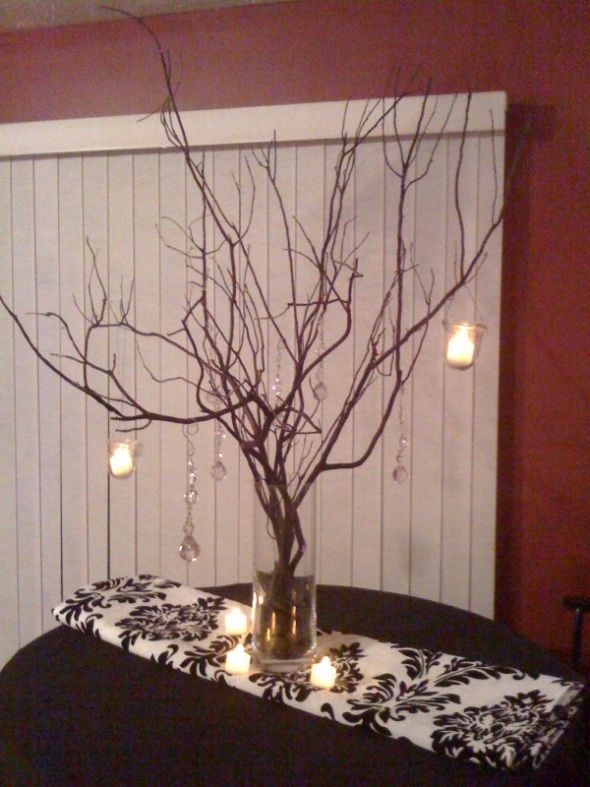 Diy wedding centerpieces branches branch centerpiece in