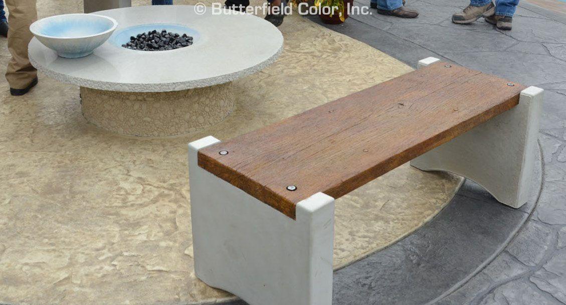 Concrete Bench Mold System Concrete Wood Concrete Decor