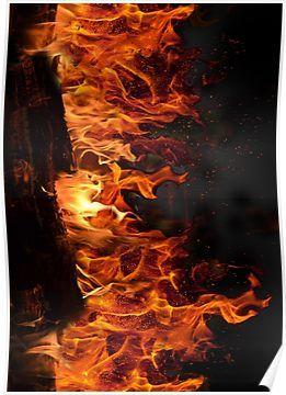 Fireplace Poster Fire Princess Poster Wall Art Poster Size