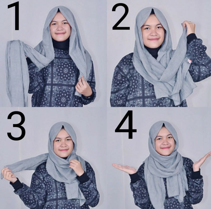 Tutorial Hijab Pashmina Ala Arab Tutorial Hijab Pashmina Hijab Kursus Hijab