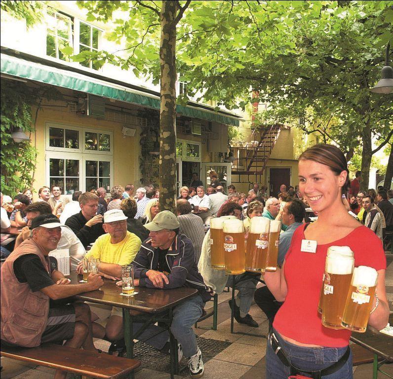 Biergarten In Karlsruhe