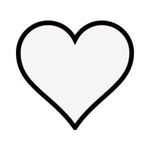 Transparent Heart W Black Outline Heart Clipart Polyvore Heart Outline Tattoo Black Outline Heart Heart Outline