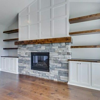 Stacked Stone Fireplaces Vaulted Ceiling