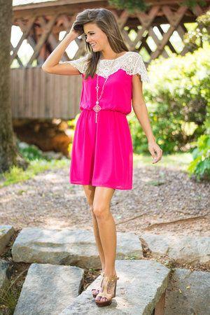 Classic Love Dress, Fuchsia