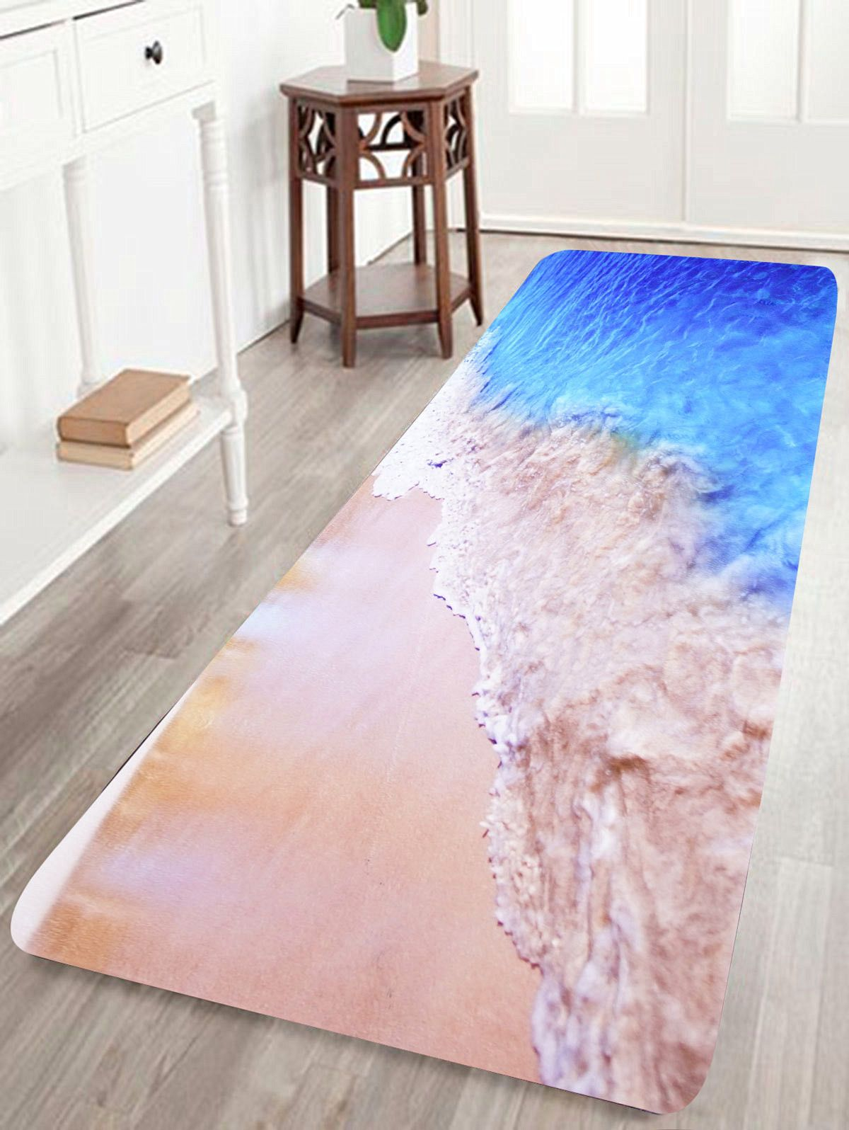 Beach Water Absorption Coral Fleece Bath Rug Winchlinch - Coral colored bath rugs for bathroom decorating ideas