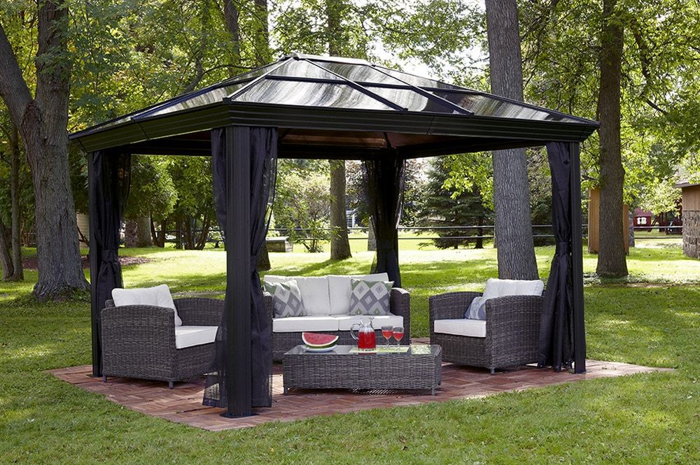 Builddirect Sojag Shade Cooling Ellington Backyard Gazebo Gazebo Tent Patio Canopy