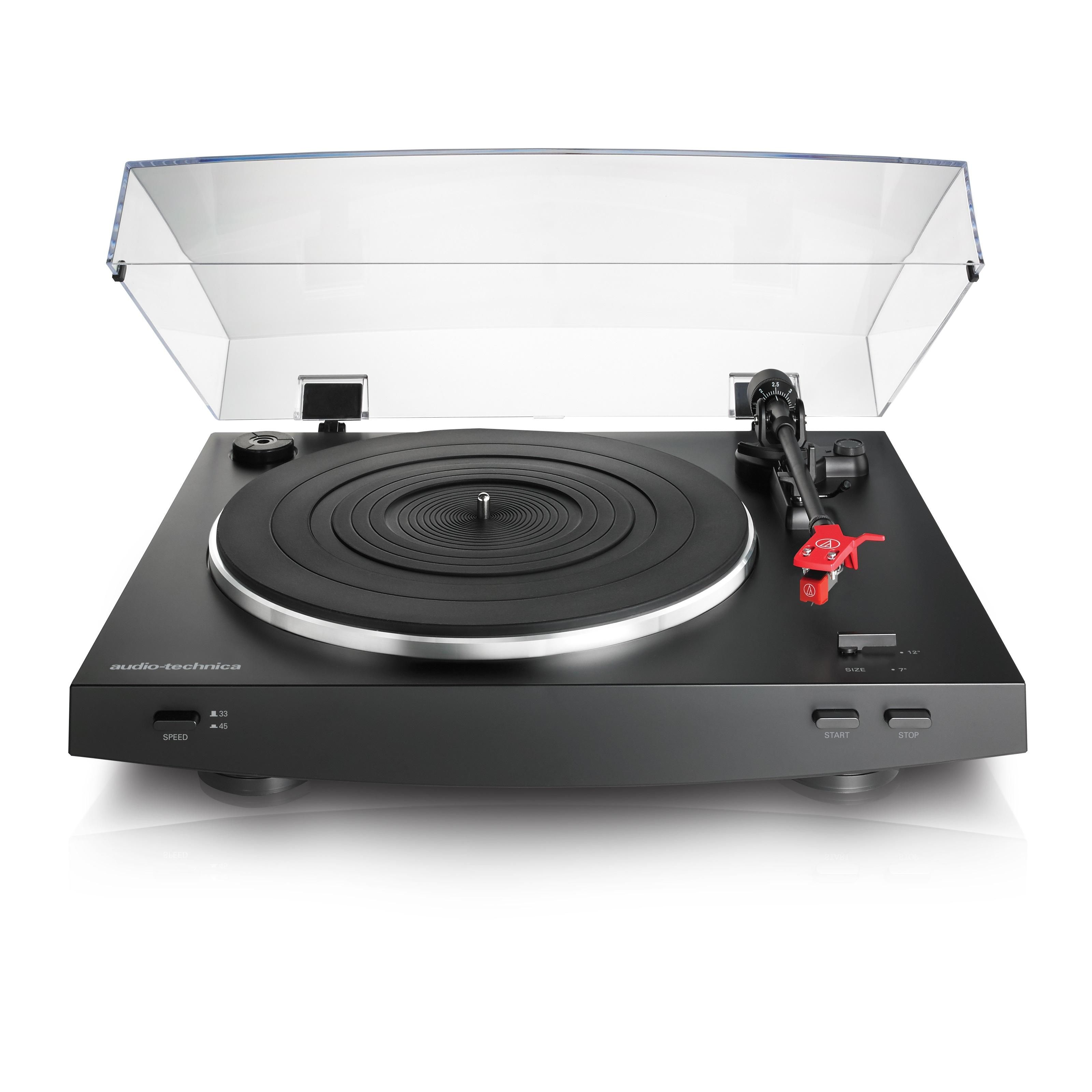 Amazon Com Audio Technica At Lp3bk Fully Automatic Belt Drive Stereo Turntable Black Electronics Stereo Turntable Audio Technica Turntable