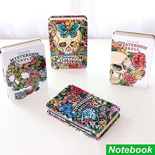 Mysterious skull notebook Metal cover diary book Demon Ha…