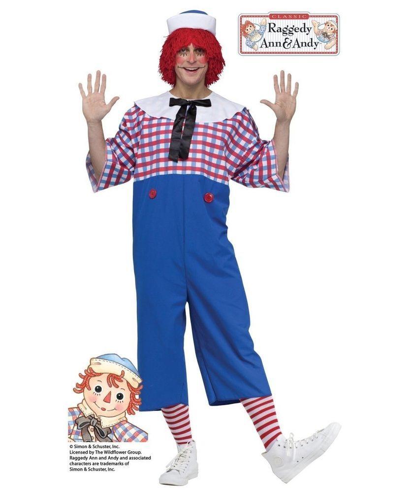 5d03bcf547ddec Fun World Men s Raggedy Andy Adult Costume Multi Standard  fashion  clothing   shoes  accessories  costumesreenactmenttheater  costumes