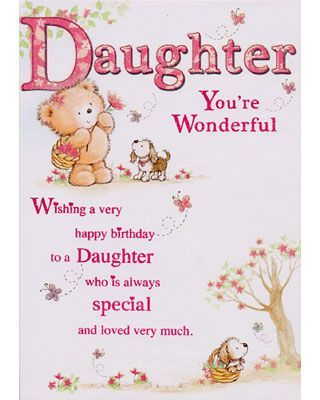 Daughter birthday daughter birthday message and birthday card daughter birthday daughter birthday message and birthday card bookmarktalkfo Images