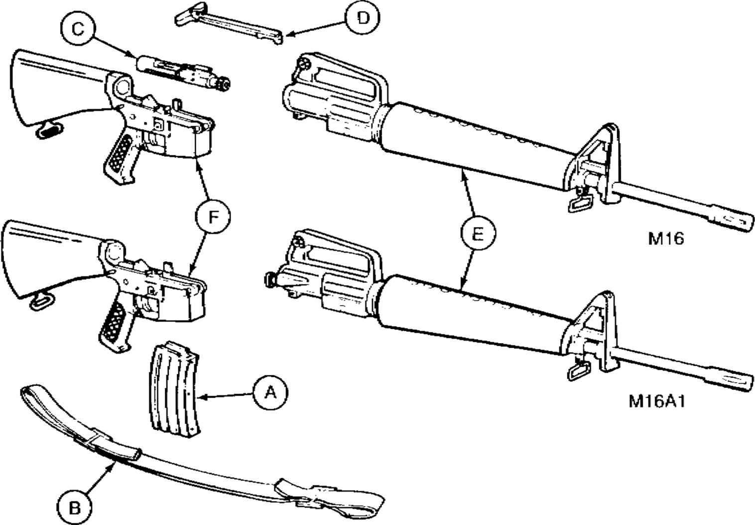 m16 exploded diagram ammeter wiring car m16a1 worksheet and parts of rifle cal 5 56mm rh pinterest com lower