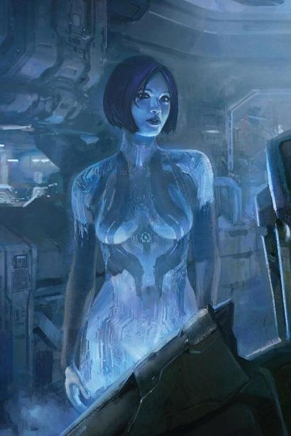 Cortana from the Halo game series.