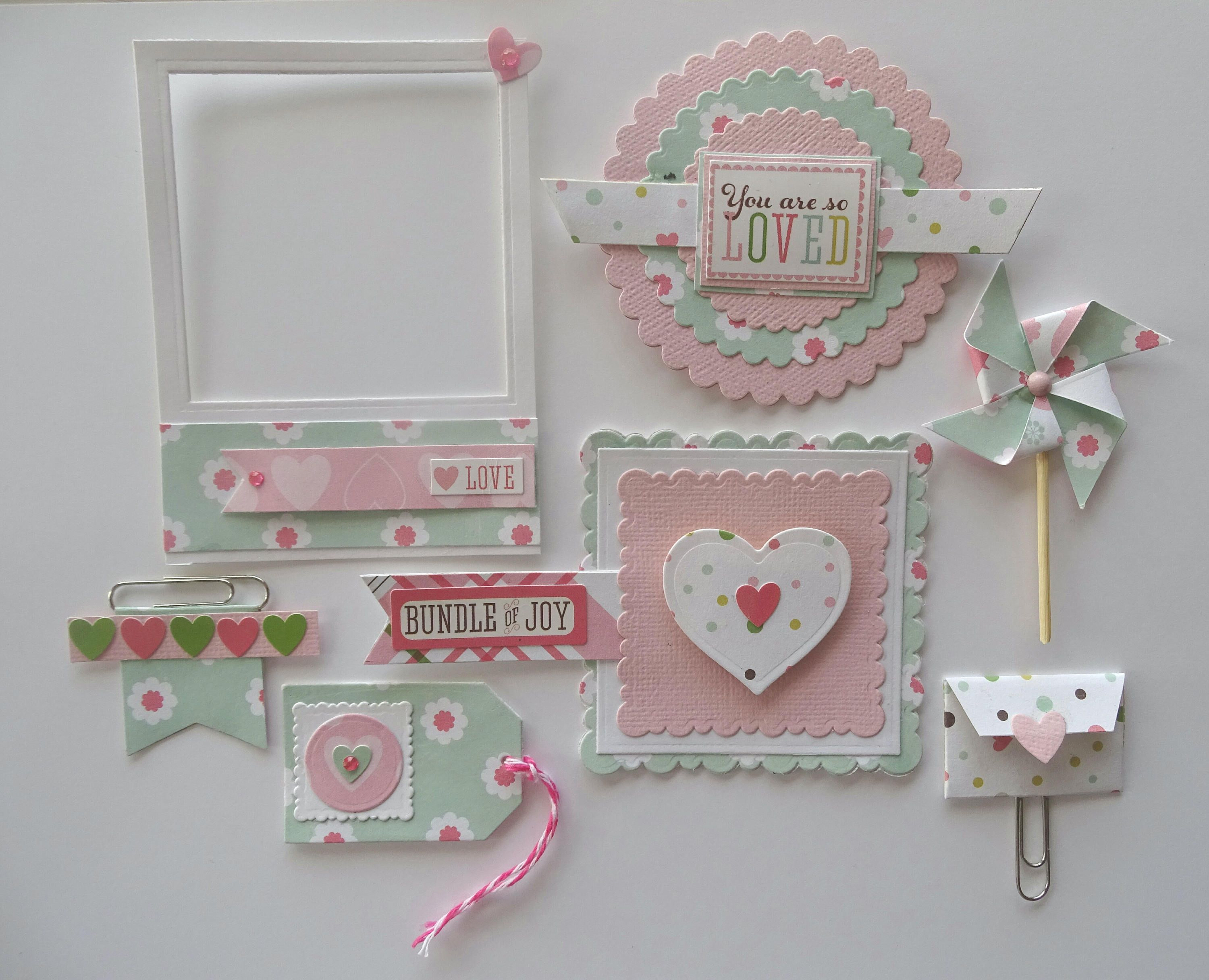 SUMMERTIME ~ Retro Card Toppers//Scrapbooking//Crafting