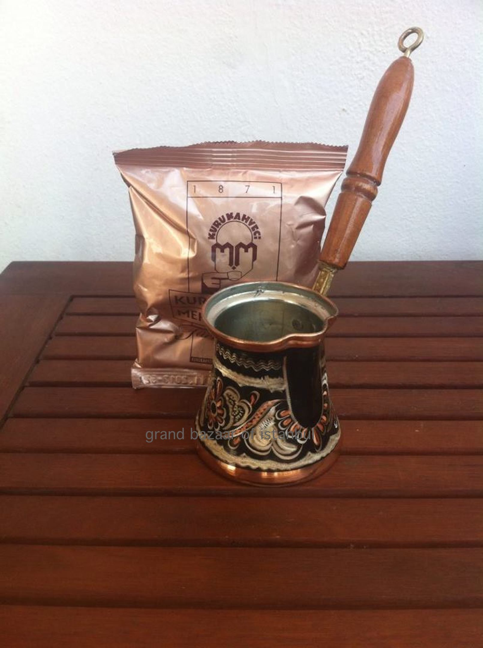 Details about Turkish Hand Made Engraved Copper Coffee Pot
