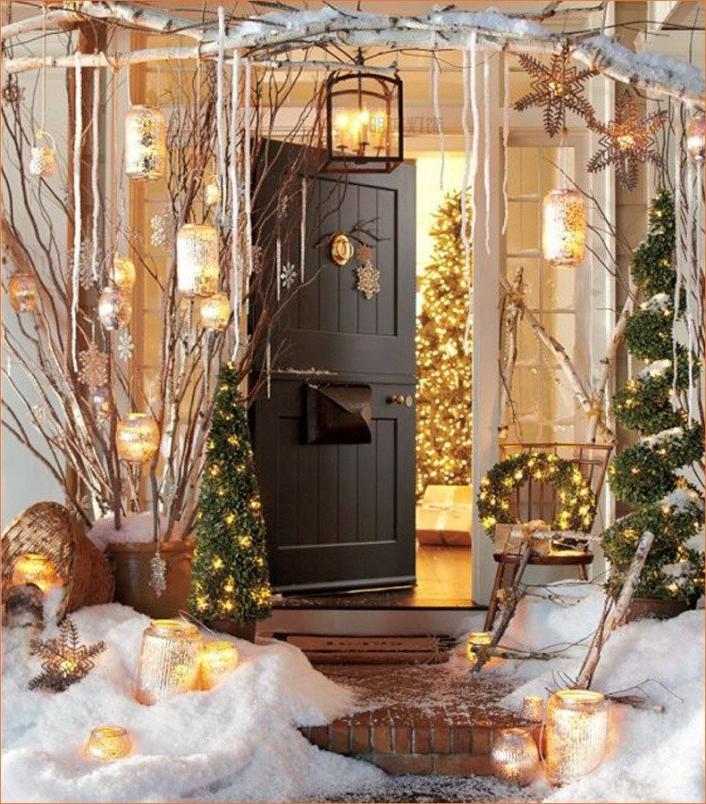 46 Awesome Wooden Winter Backyard Decorating Ideas Outdoor Christmas Decorations Lights Decorating With Christmas Lights Outdoor Christmas