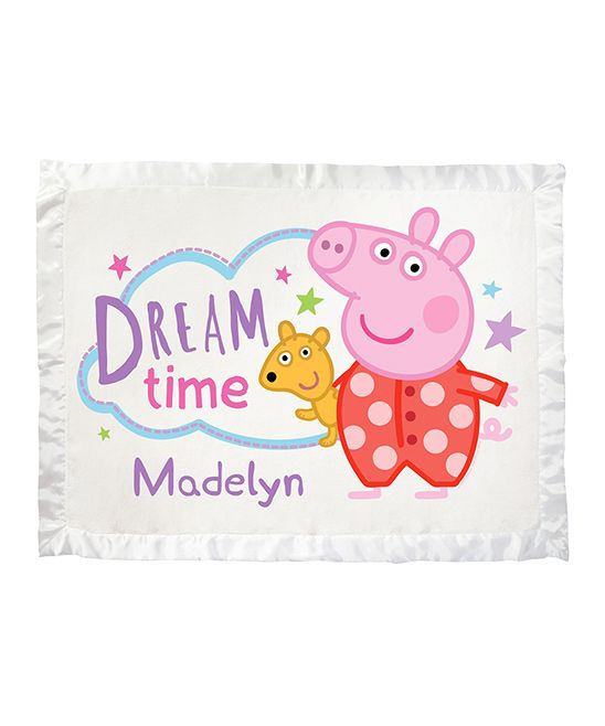 Peppa Pig \'Dream Time\' Personalized Blanket