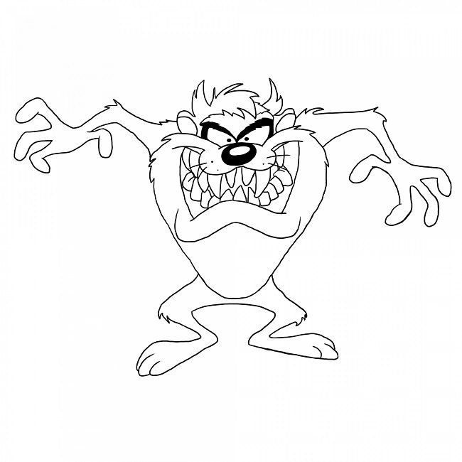looney tunes taz coloring pages | Cartoon | Pinterest