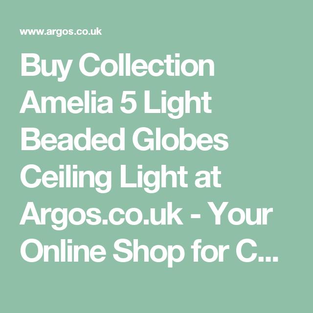 Buy Argos Home Amelia 5 Light Beaded Globes Ceiling Light