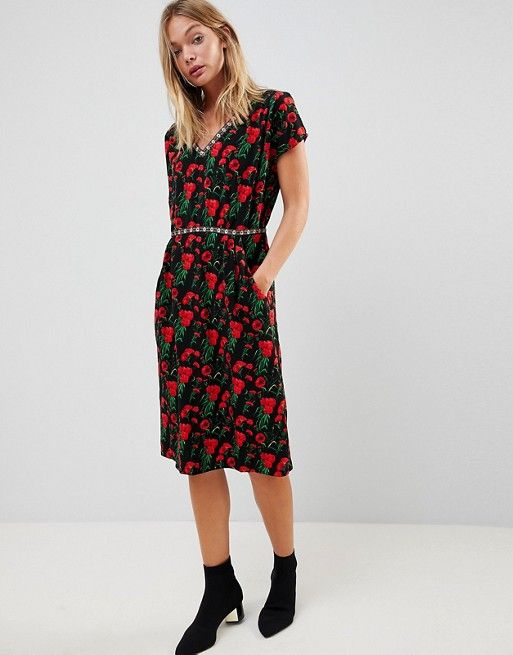 Really Cheap Shoes Online Particular Discount Trollied Dolly Floral Print Pencil Dress Clearance High Quality View For Sale vvfYkT
