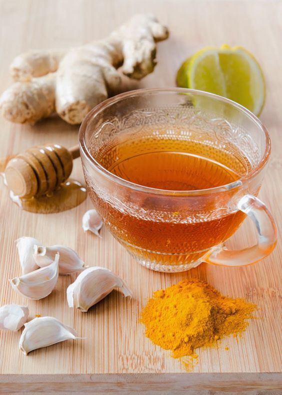 Natural Allergy Remedy Syrup - 1 tbsp. grated ginger - 1 tbsp. grated turmeric root (or ½ tbsp. turmeric powder - 2 tbsp. raw honey- 1 crushed garlic clove - 1 lemon, juiced - 1 tsp. cinnamon