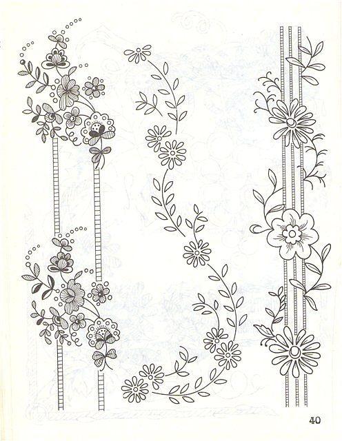 Pattern   embroidery patterns   Pinterest   Bordado, Dibujos para ...