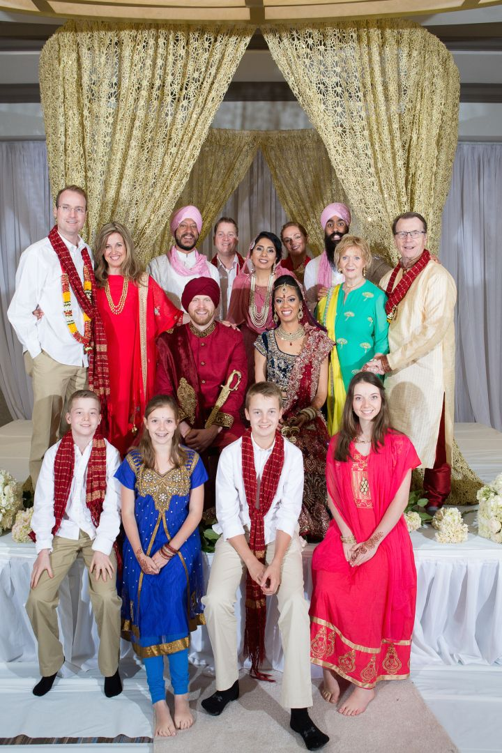 Indian Brides Family And Canadian Grooms Families Together Inbalmore Photography Shaadishopco