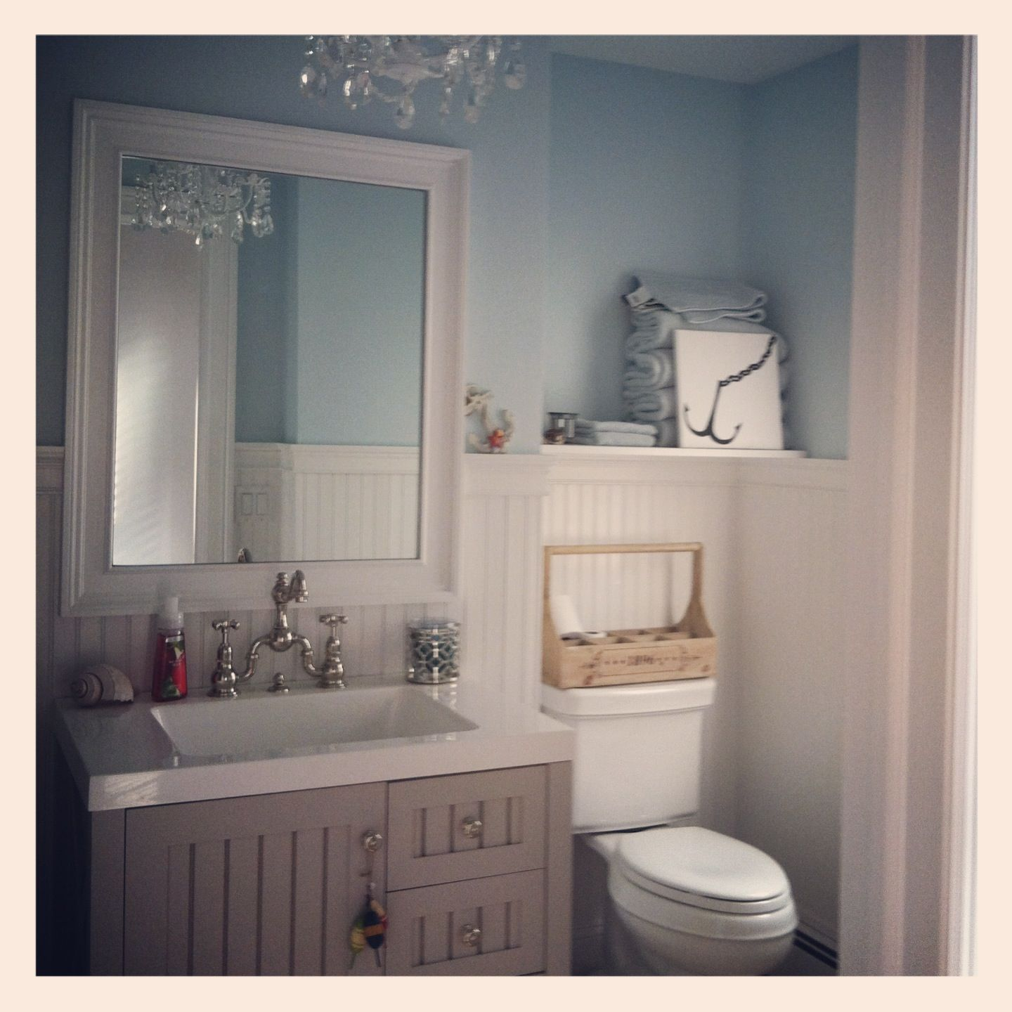 My Hanptons Beach Cottage Bathroom #beach #decor #cottagestyle