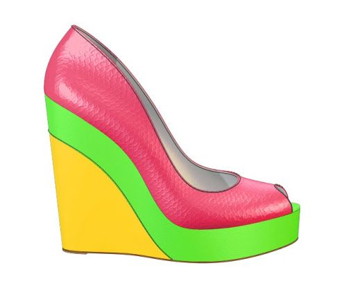 I love this custom design from Shoes of Prey! Design your perfect pair of shoes online now || shoesofprey.com