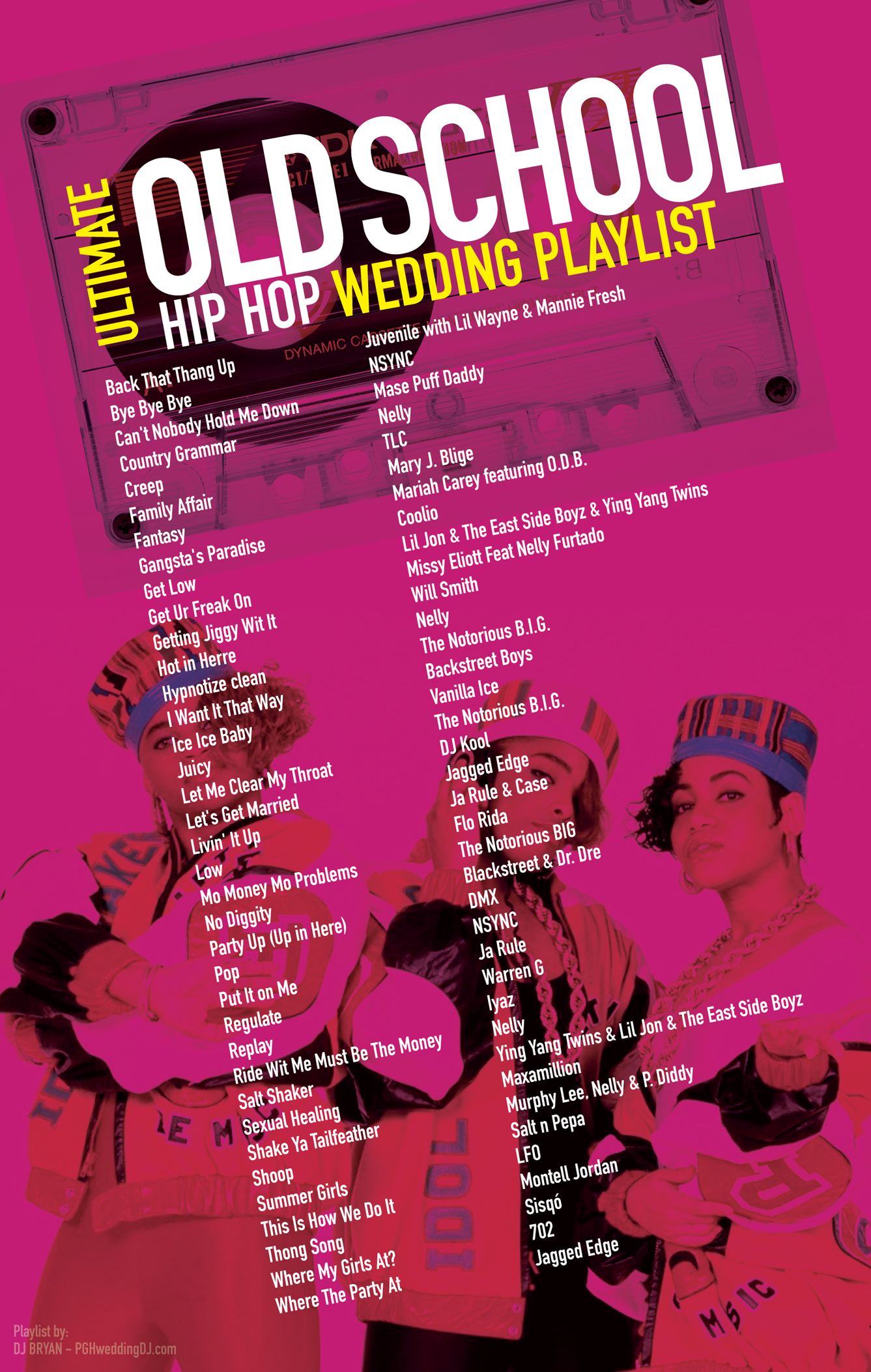 Old School Hip Hop Wedding Playlist most requested 90's