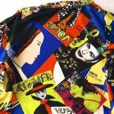 "Gianni Versace Couture ""Vogue Print"" Silk Blouse US size 8/Italian size 42"