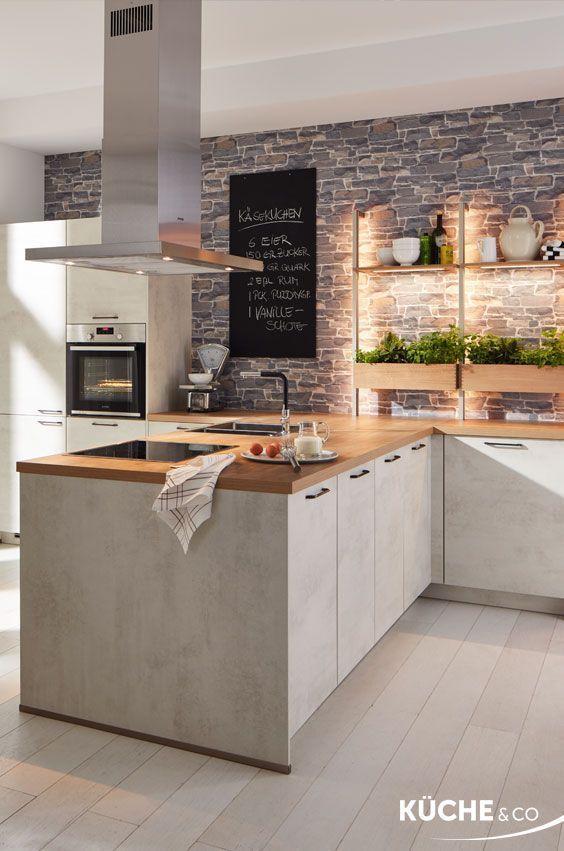 Photo of Cucina moderna in cemento bianco – Cucina – # Cucina #Moderno # giardino di piante #Bianco …