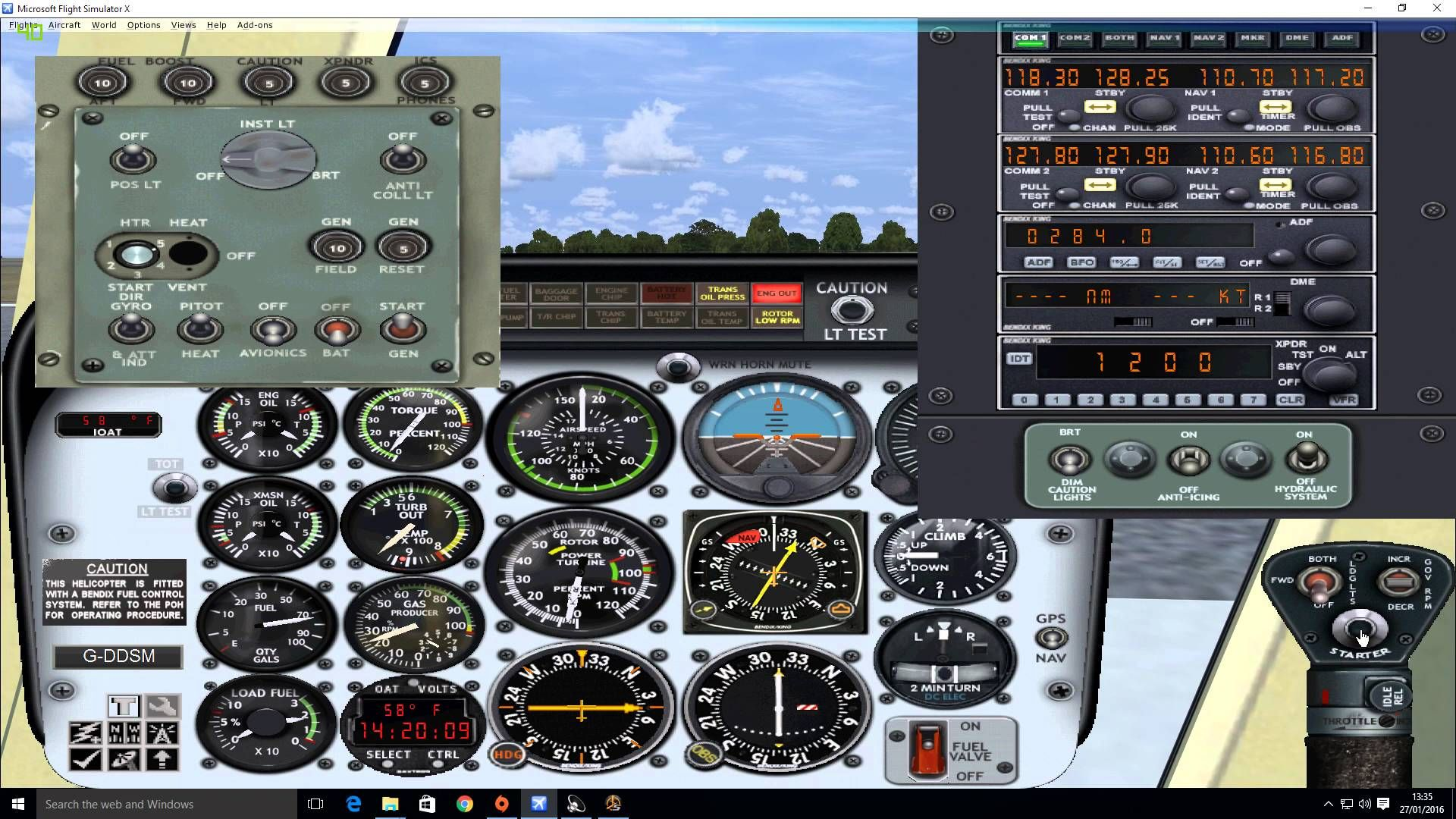 FSX Dodsim Bell 206 Helicopter Startup Tutorial Made Easy