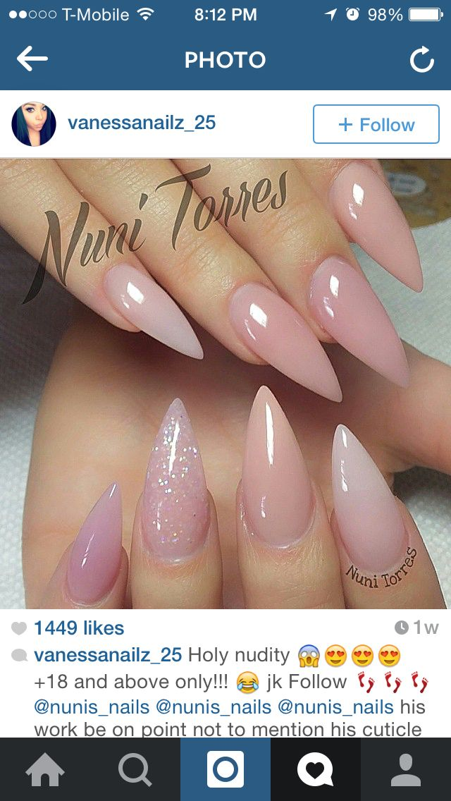Elegant Pink Claws With Glitter With Images Pink