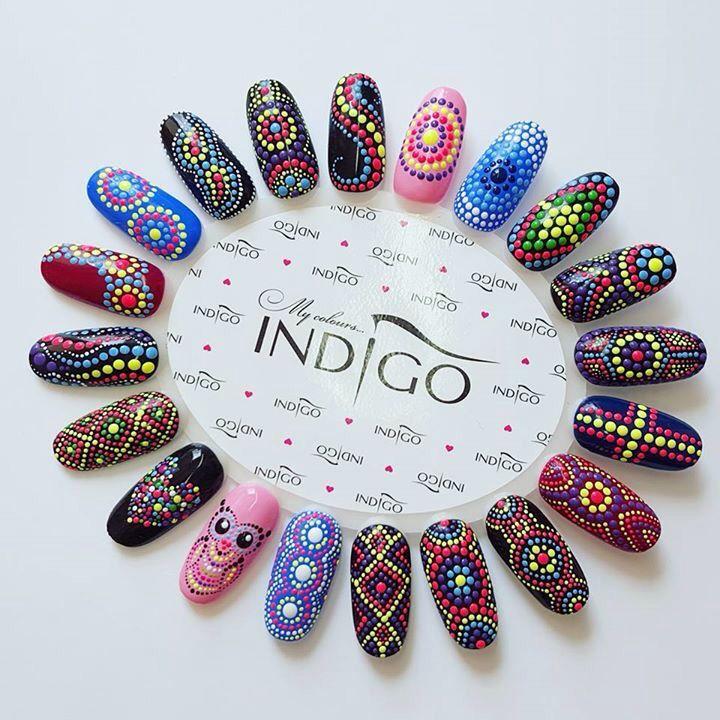 Puntillismo | nail art | Pinterest | Manicure, Nail nail and Nails ...