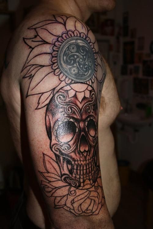 9abde37f4 Festival of the Dead | 20 Scary Day Of The Dead Tattoos | CreativeFan