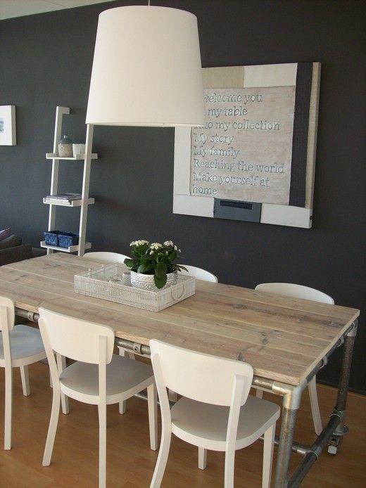 Muur keuken - Keuken rode en grijze muur ...