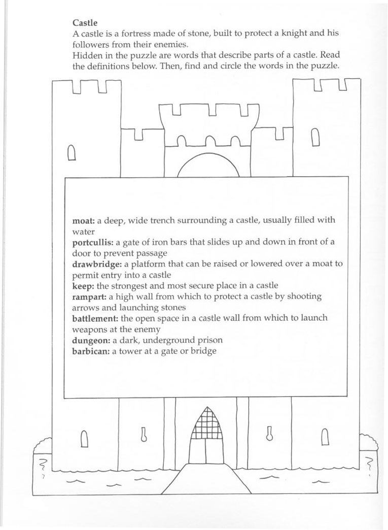 parts of a castle i 39 m finished pinterest middle ages vocabulary words and worksheets. Black Bedroom Furniture Sets. Home Design Ideas