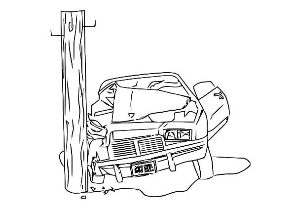 Camaro Cars Crashing Electricity Pole Coloring Pages Best Place To Color Camaro Car Cars Coloring Pages Coloring Pages