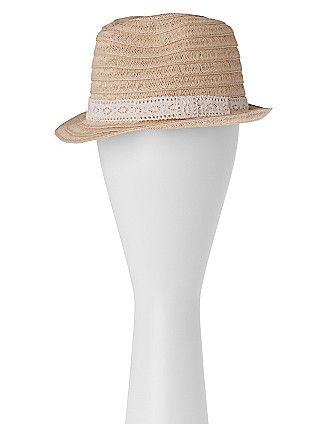 Top off your look with this Straw fedora by Lane Bryant | :: in ...