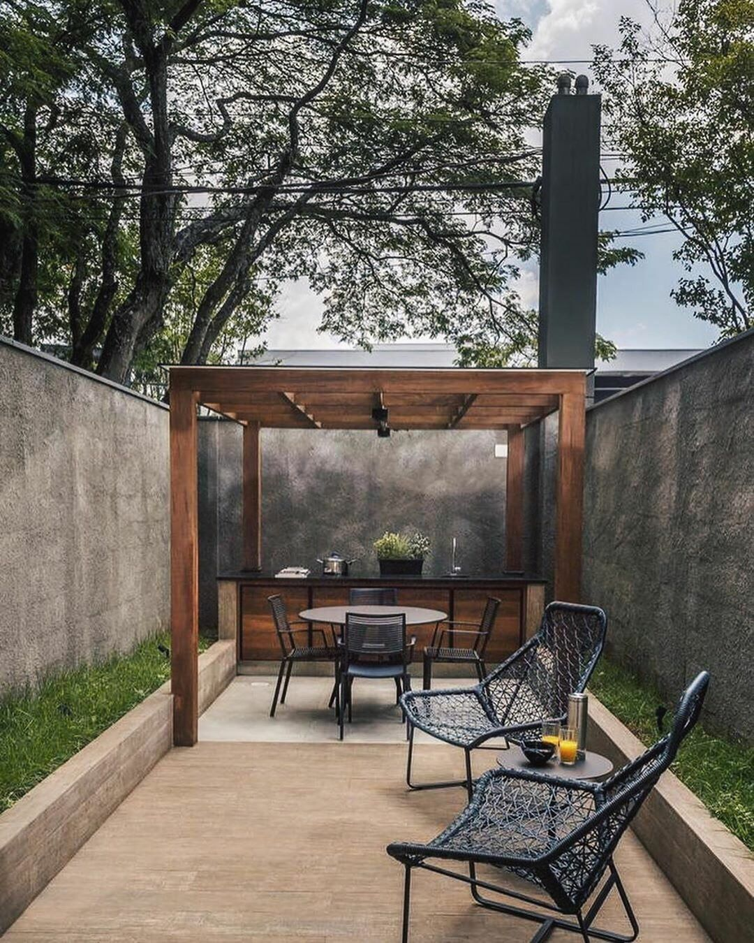 Modern patio | Terrace design, Modern outdoor living space ... on Myliving Outdoors  id=46249