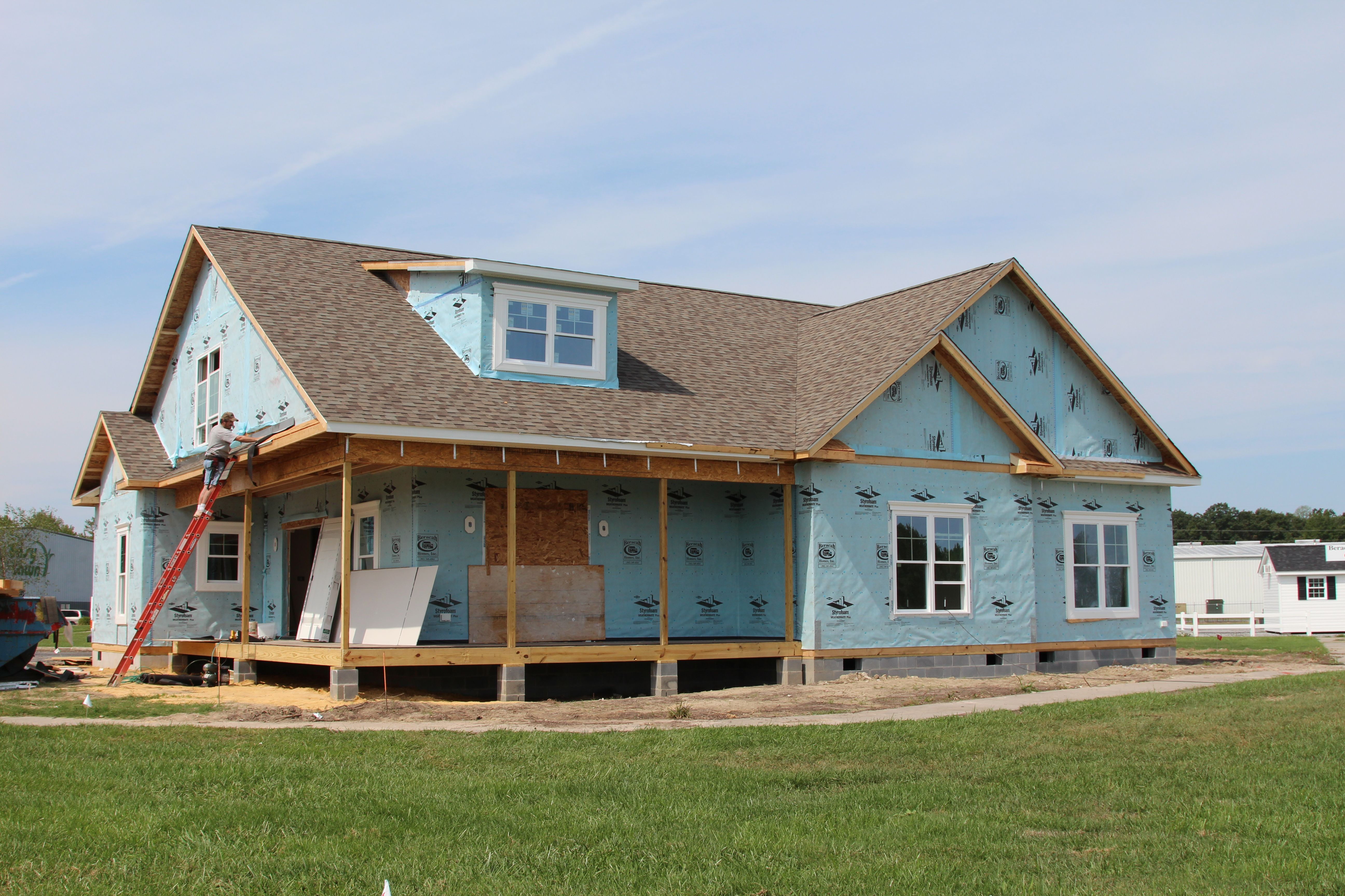 Beracah Homes New Greenwood Craftsman Model 1 Day After