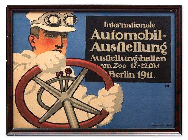 """Lucian Bernhard, """"Internationale Automobil-Ausstellung"""", 1911"""